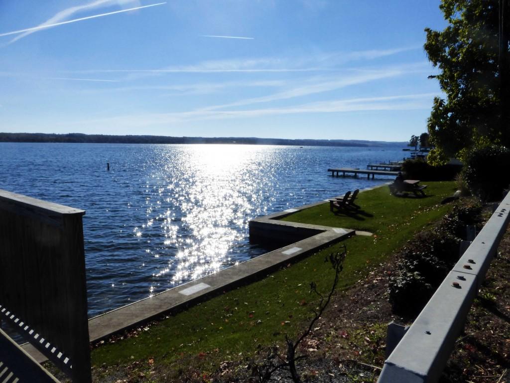 On the Canandaigua Lake shore close to the neighborhood