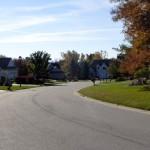 A neighborhood street view